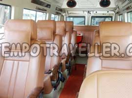 11+1 deluxe 1x1 tempo traveller hire in delhi