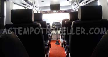 11+1 seater 1x1 deluxe tempo traveller with led tv