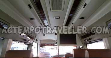 12 seater deluxe 1x1 tempo traveller with led tv