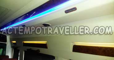 deluxe 1x1 tempo traveller on rent in delhi
