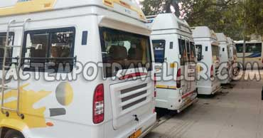 maharaja 1x1 9 and 12 seater tempo traveller delhi