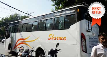 27 seater luxury coach bus hire in delhi