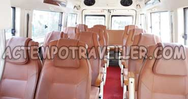 16 seater 2x1 tempo traveller hire
