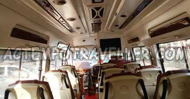 16 seater tempo traveller with led tv