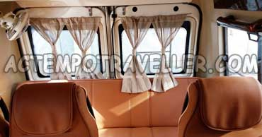 15 seater tempo traveller with sofa cum bed