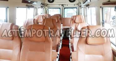 14 seater 2x1 seating tempo traveller hire in delhi