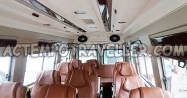 17+1 seater tempo traveller rental delhi