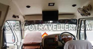 17+1 seater tempo traveller with led tv