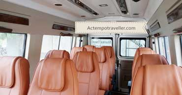 12 seater tempo traveller - interior photo