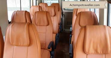 12 seater 2x1 seating tempo traveller - interior photo